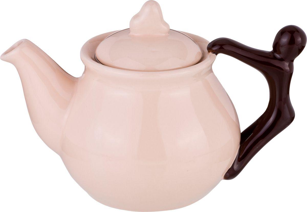 Чайник заварочный Agness, 470-332, бежевый, 500 мл чайник заварочный agness 600 мл бежевый