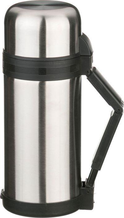 Термос Agness, с широким горлом, с крышкой-чашкой, 910-053, серебристый, 1,2 л термос agness с широким горлом 910 035 серебристый 1 л
