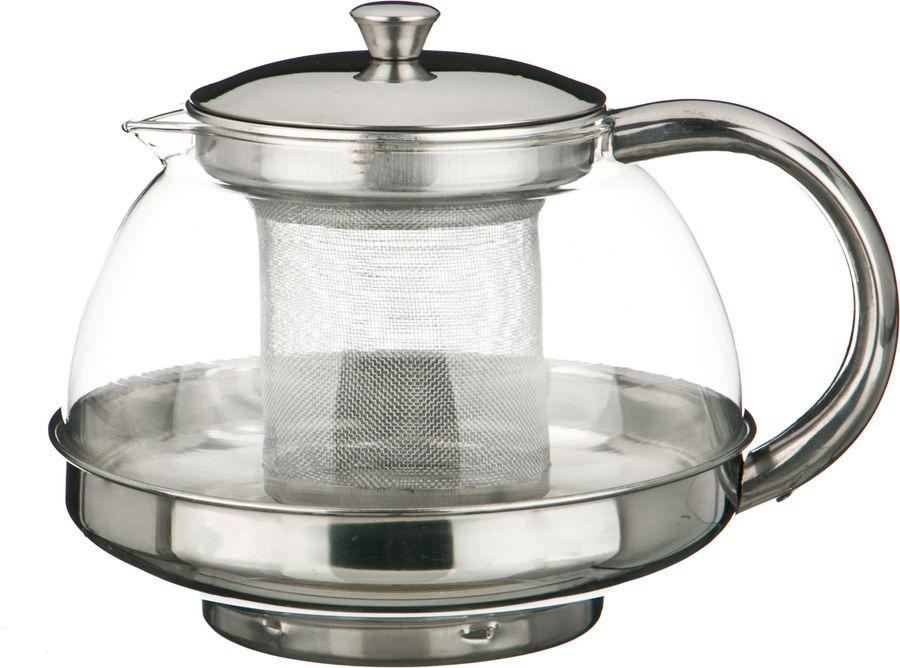 Чайник заварочный Agness, с фильтром, 891-012, прозрачный, 800 мл чайник заварочный vitesse с фильтром цвет прозрачный 800 мл vs 4010