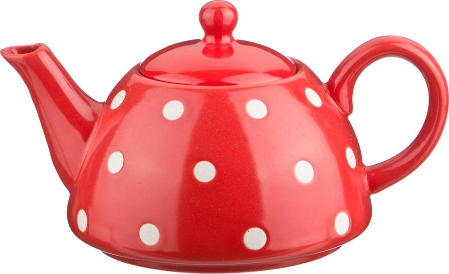 Чайник заварочный Agness, 470-291, белый, красный, 1 л чайник leben 291 003