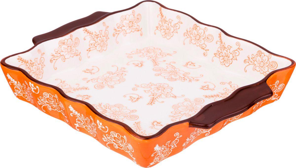 Блюдо для запекания Agness, 536-186, оранжевый, 30 х 24 см блюдо bella квадратное 24 5 х 24 5 см