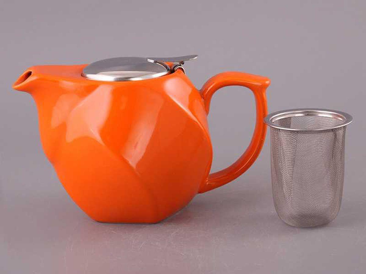 Чайник заварочный Agness, 470-189, оранжевый, 750 мл чайник заварочный agness 470 015 оранжевый 600 мл