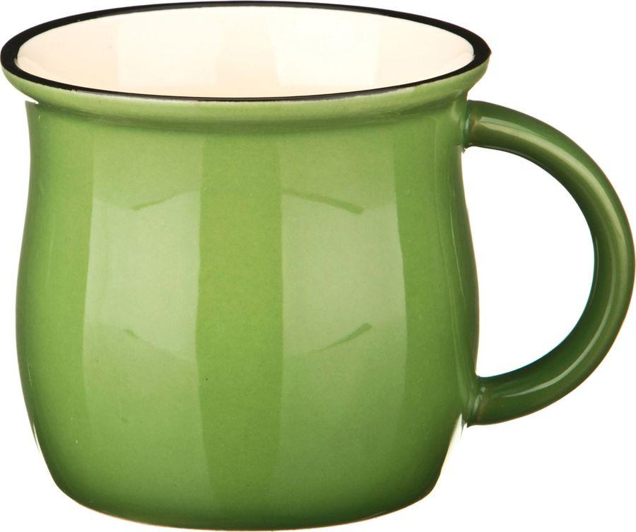 Кружка Agness, 470-204, зеленый, 300 мл все цены