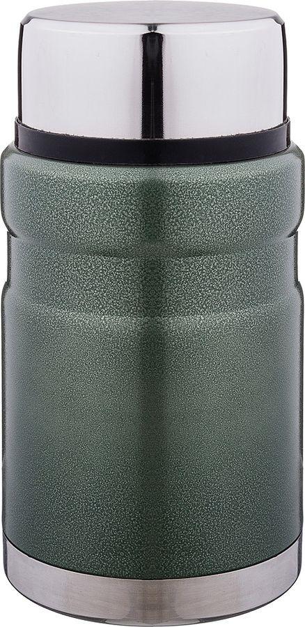 Термос Agness, с широким горлом, 910-090, темно-зеленый, 700 мл