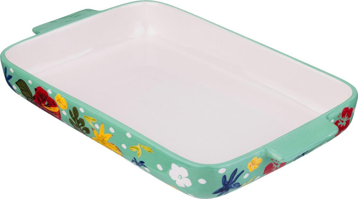 Блюдо для запекания Agness, 536-211, мультиколор, 39 х 24 см блюдо bella квадратное 24 5 х 24 5 см