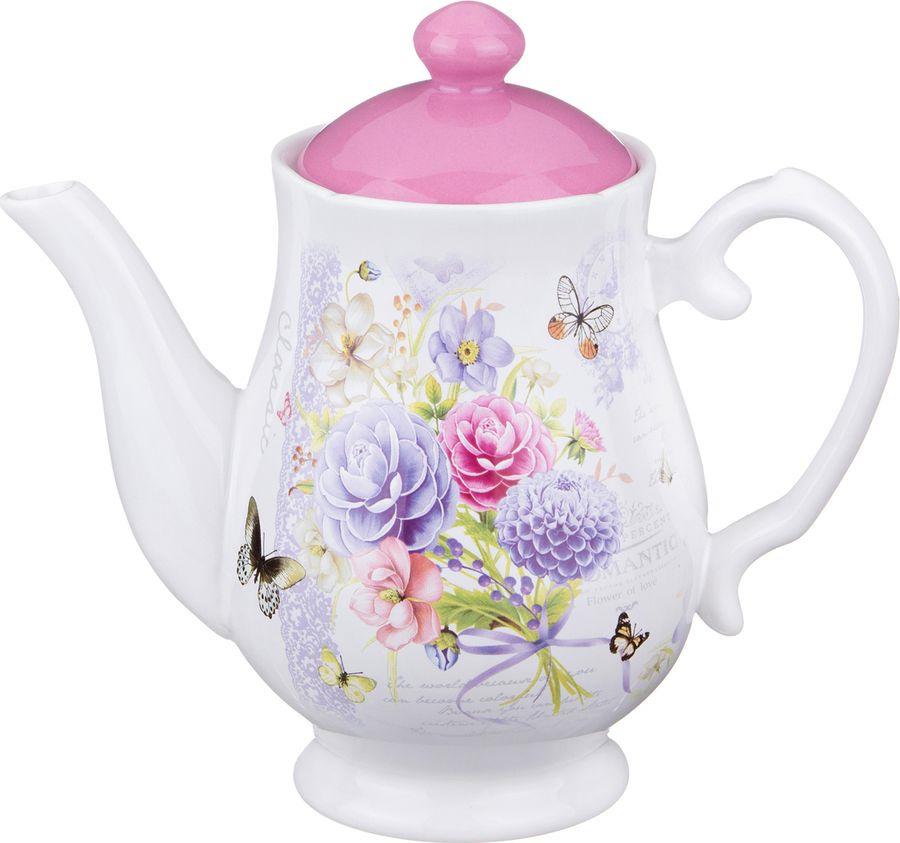 Чайник заварочный Agness Георгина, 358-885, разноцветный, 1 л homephilosophy цветок георгина белый