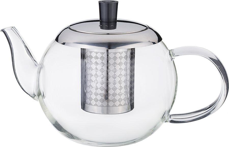 Чайник заварочный Agness, с фильтром, 891-028, прозрачный, 800 мл чайник заварочный vitesse с фильтром цвет прозрачный 800 мл vs 4010
