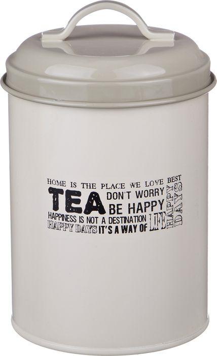 Универсальная емкость Agness Прованс Чай, 790-103, белый, 11 х 11 х 15 см
