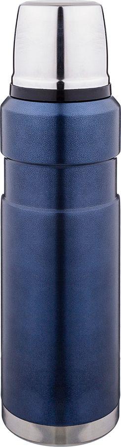 Термос Agness, с крышкой-чашкой, 910-082, синий, 800 мл910-082ТЕРМОС AGNESS С КРЫШКОЙ-ЧАШКОЙ, 800МЛ, КОЛБА НЖС