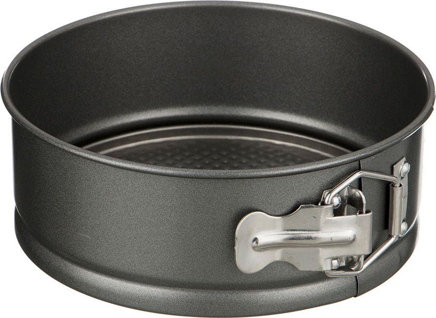 Форма для выпечки Agness, разъемная, с антипригарным покрытием, 708-084, черный, 28 х 7 см форма для выпечки жаклин круг 2803204 с антипригарным покрытием 28 ячеек 40 7 х 28 5 х 3 см