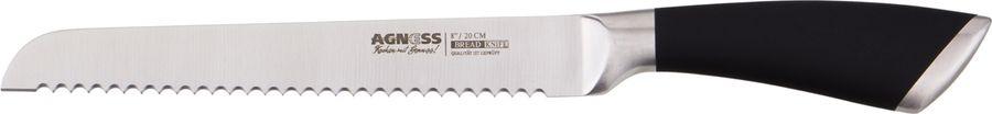 Нож столовый Agness, для хлеба, 911-019, 20 см нож столовый амет цветы эконом 20 5 см