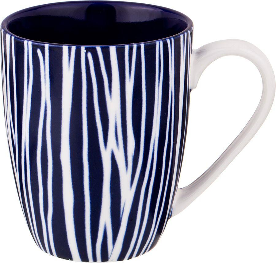 Кружка Agness, 585-110, белый, темно-синий, 400 мл