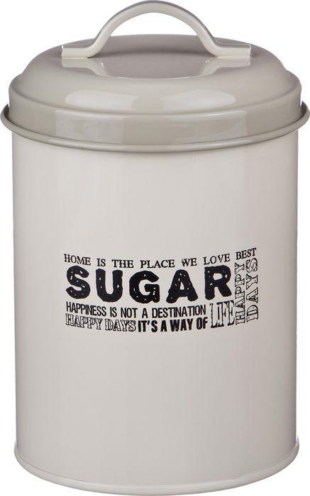 Универсальная емкость Agness Прованс Сахар, 790-101, белый, 11 х 11 х 15 см