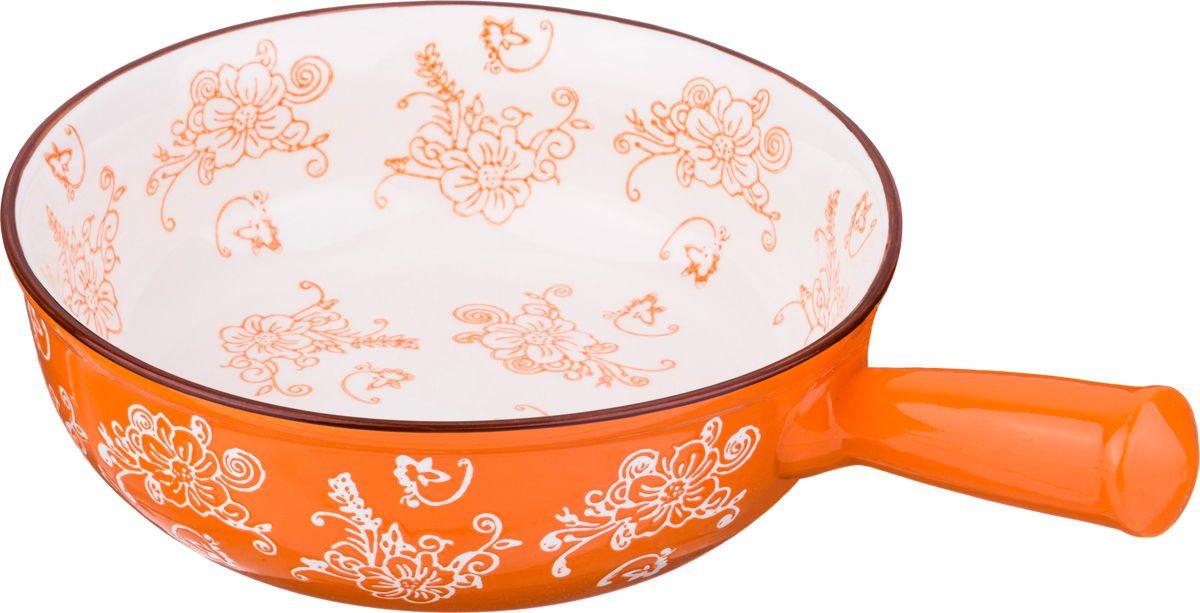 Блюдо для запекания Agness, 536-180, оранжевый, 27 х 18 см блюдо для запекания rosenberg 37 5 23 см