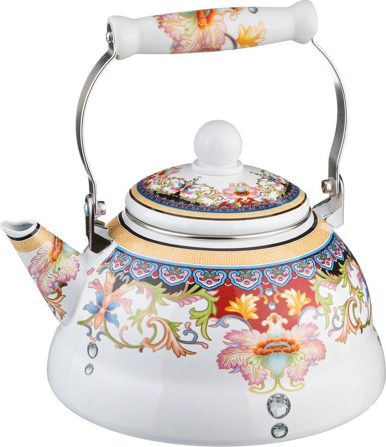 Чайник Agness, 934-302, мультиколор, 3 л чайник 1 3 л птицы santafe чайник 1 3 л птицы
