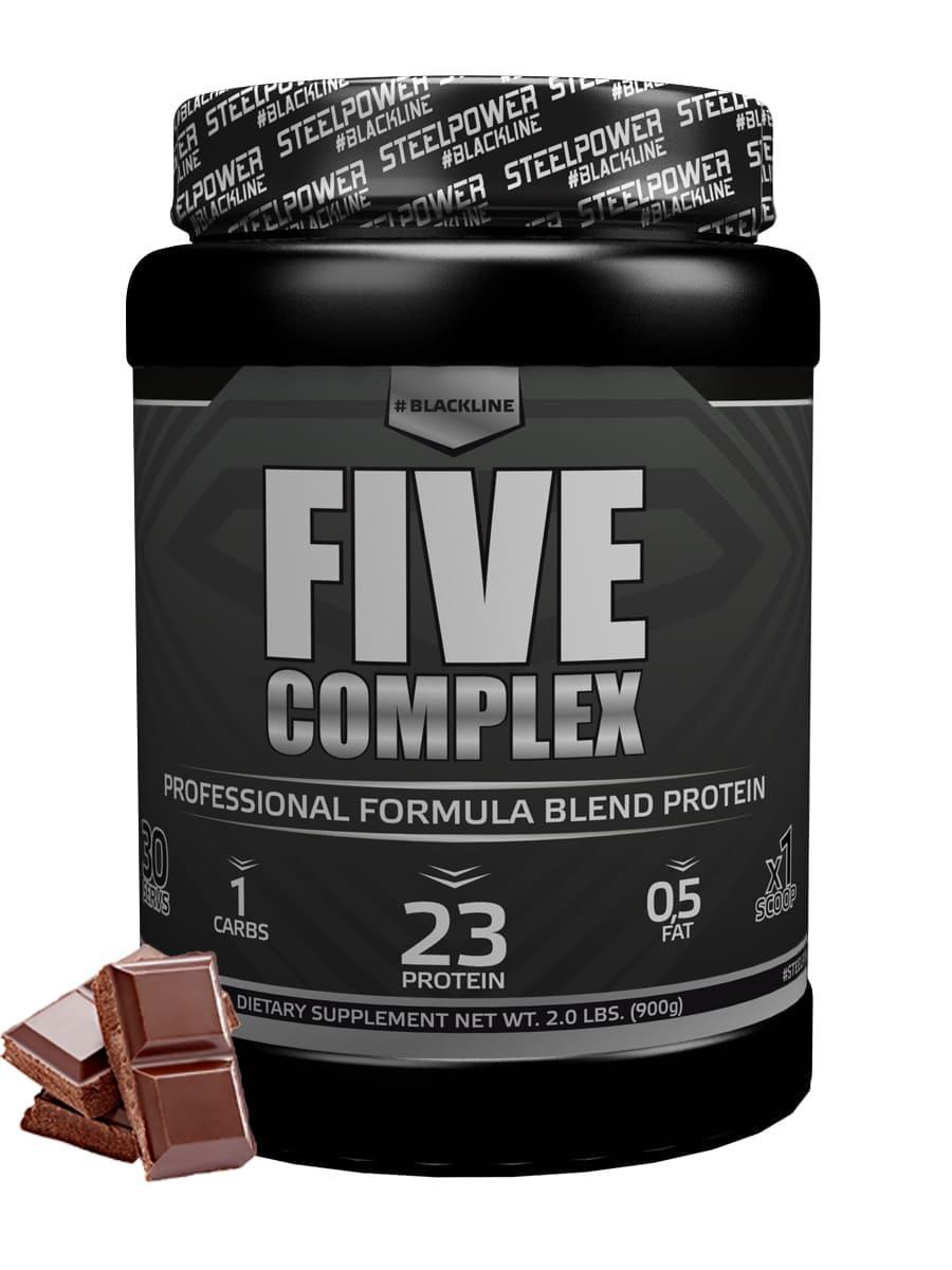 SteelPower Nutrition / Пятикомпонентный протеин Five Complex, 900 г, Шоколад