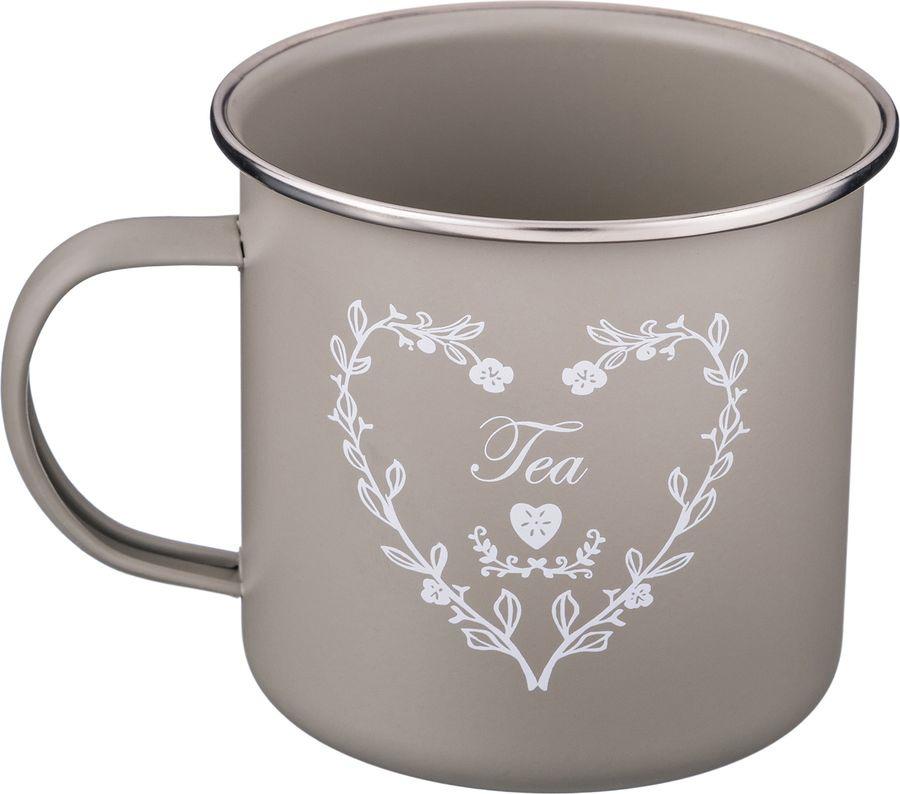 Кружка Agness Чай, 790-130, серый, 500 мл все цены