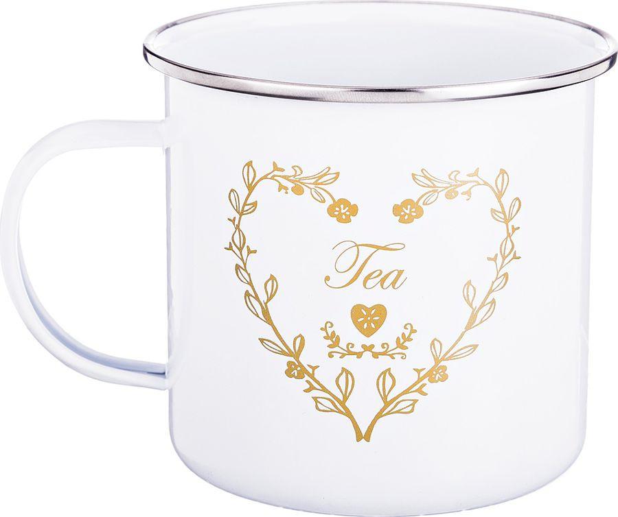 Кружка Agness Чай, 790-142, белый, 500 мл все цены