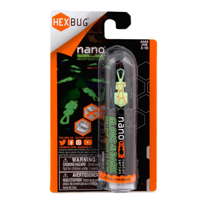 """Игрушечный робот HEXBUG """"Nano"""" светящийся в темноте черный"""