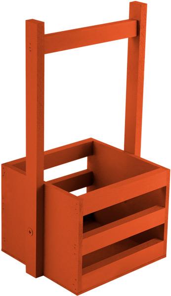 Кашпо Дубравия Ящик малый, красный