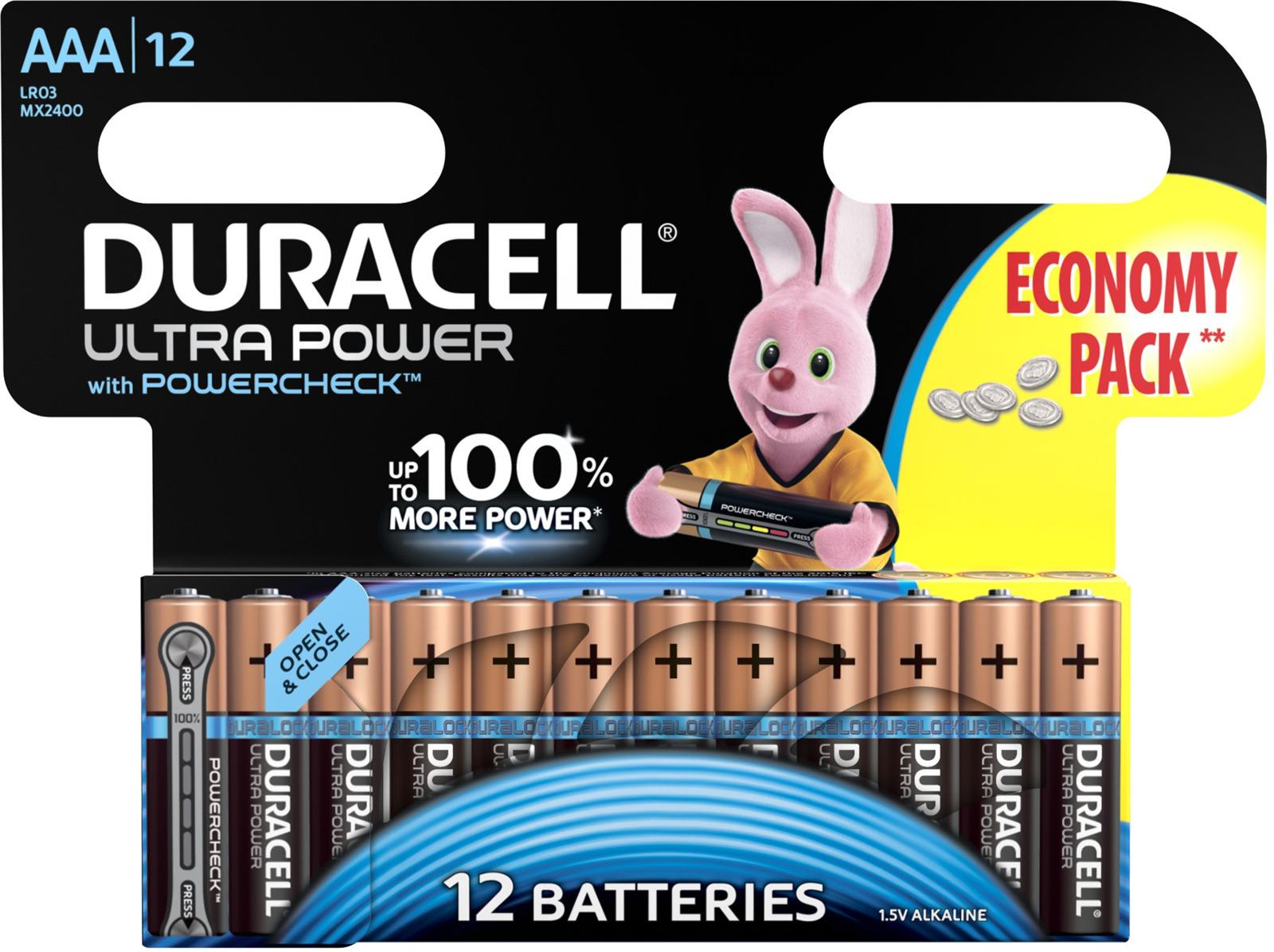 Набор батареек Duracell Ultra Power LR03-12BL, 5004810, 12 шт цена и фото