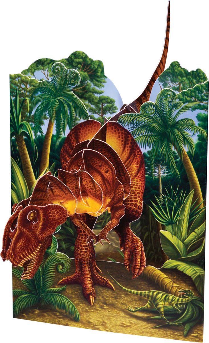 Конфет, объемные открытки динозавр