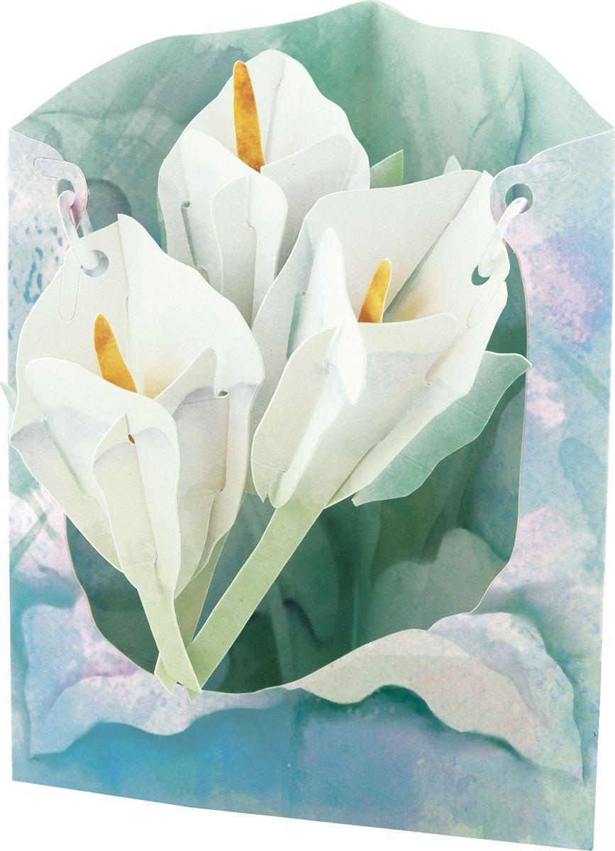Золотулечка, открытки объемные лилия