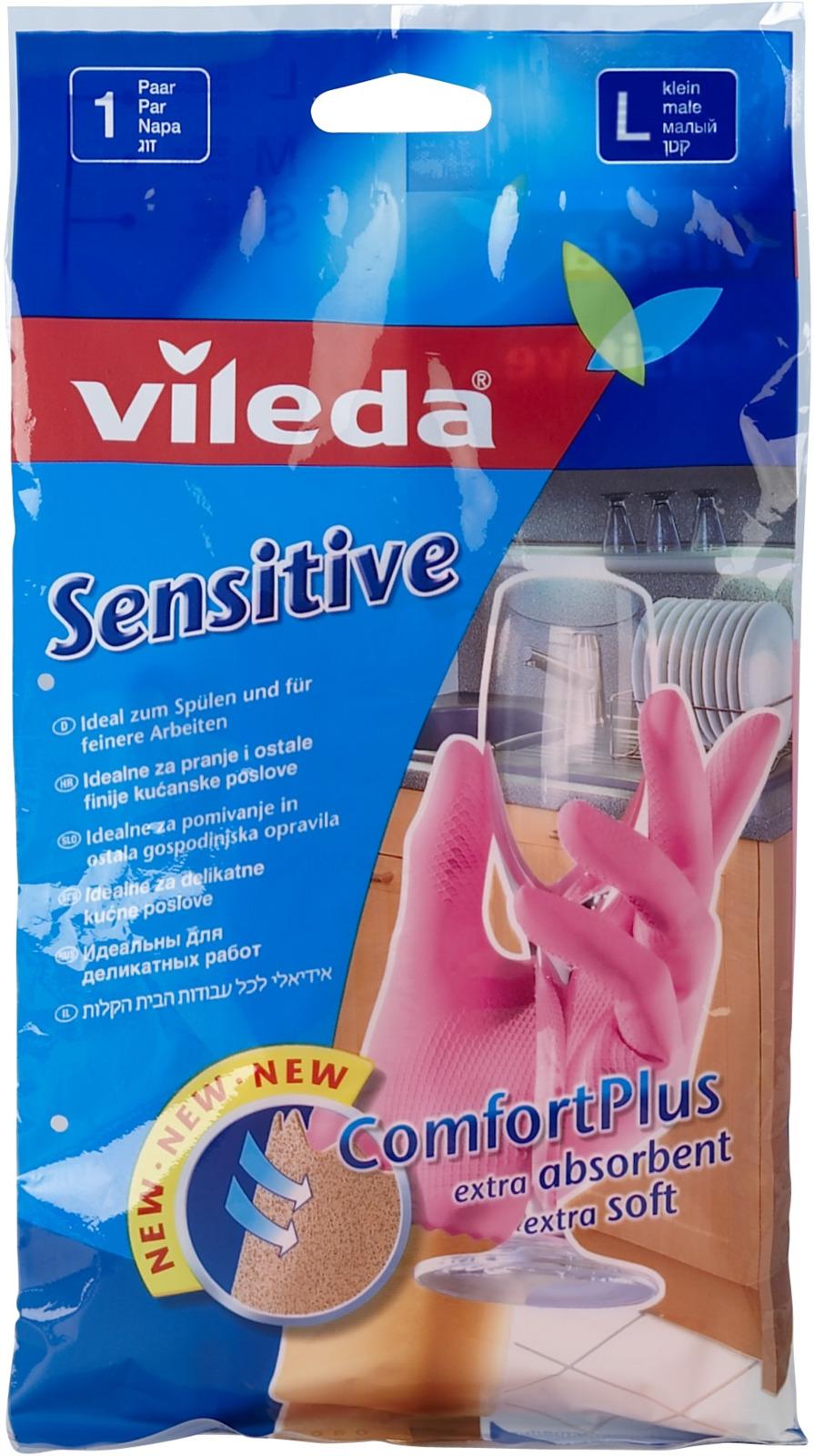 Перчатки для деликатных работ Vileda Sensitive. Размер L перчатки для деликатных работ vileda sensitive размер l