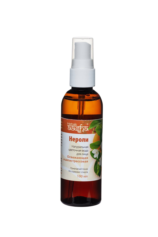 Aasha Herbals Цветочная вода для лица Нероли, 100 мл цветочная вода лаванда aasha herbals 100 мл