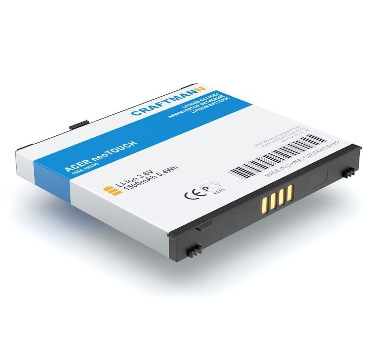 Аккумулятор для телефона Craftmann A7BTA020F для Acer NeoTouch, A1 , F1, Liquid , Liquid E, S100 , S200 аккумулятор для телефона craftmann ap18 для acer liquid e1 duo