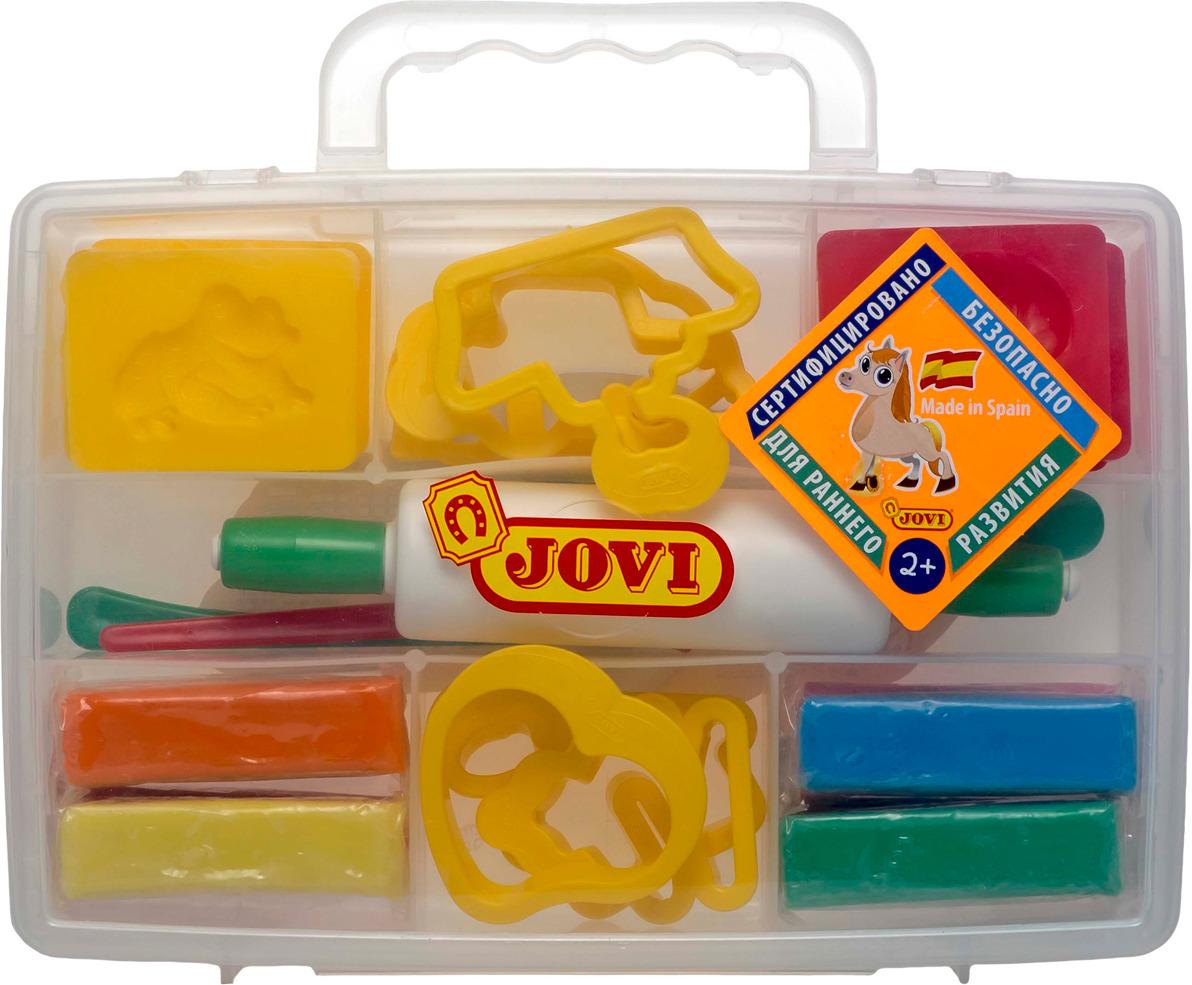 Jovi Пластилин 8 цветов 400 г erich krause набор для лепки пластилин на растительной основе undersea world 8 цветов по 35г