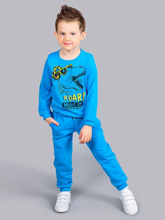 Свитшот Веселый малыш свитшот для мальчика веселый малыш цвет серый голубой 161 142 мал h 1 дино в облаках размер 98