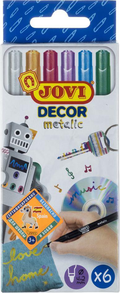 Маркеры перманентные Jovi, 1606M, металлик, 6 цветов