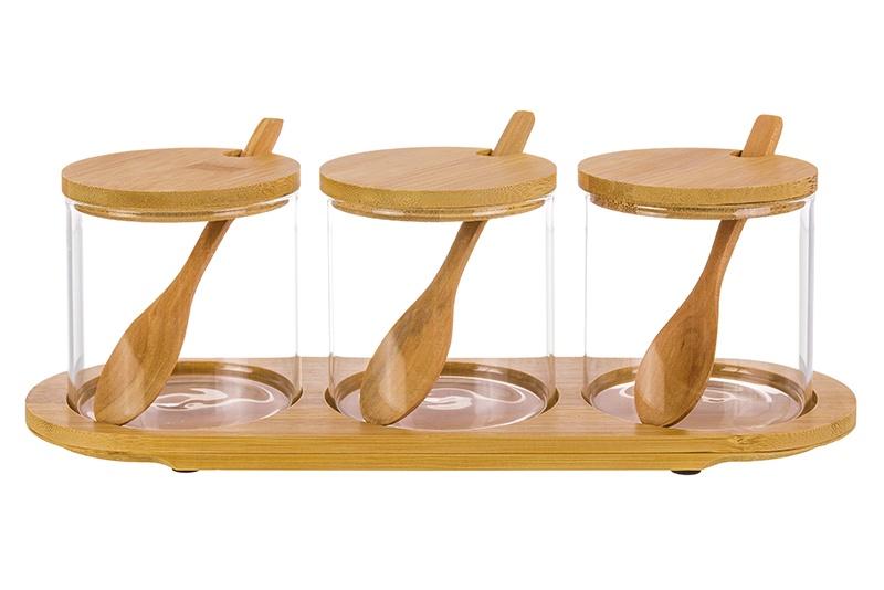 Банка для сыпучих продуктов Elan Gallery Verto, прозрачный, светло-коричневый банка для сыпучих продуктов elan gallery оливковое масло с крышкой с зажимом 600 мл