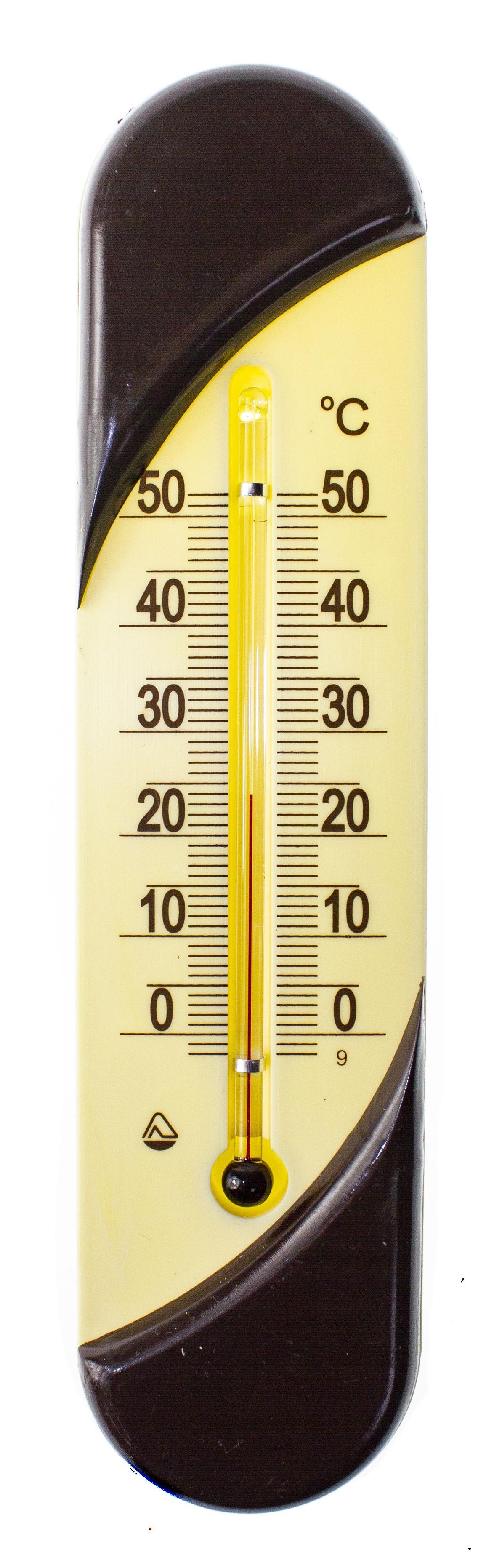 Термометр садовый PROFFI комнатный, настенный, пластиковый, бежевый