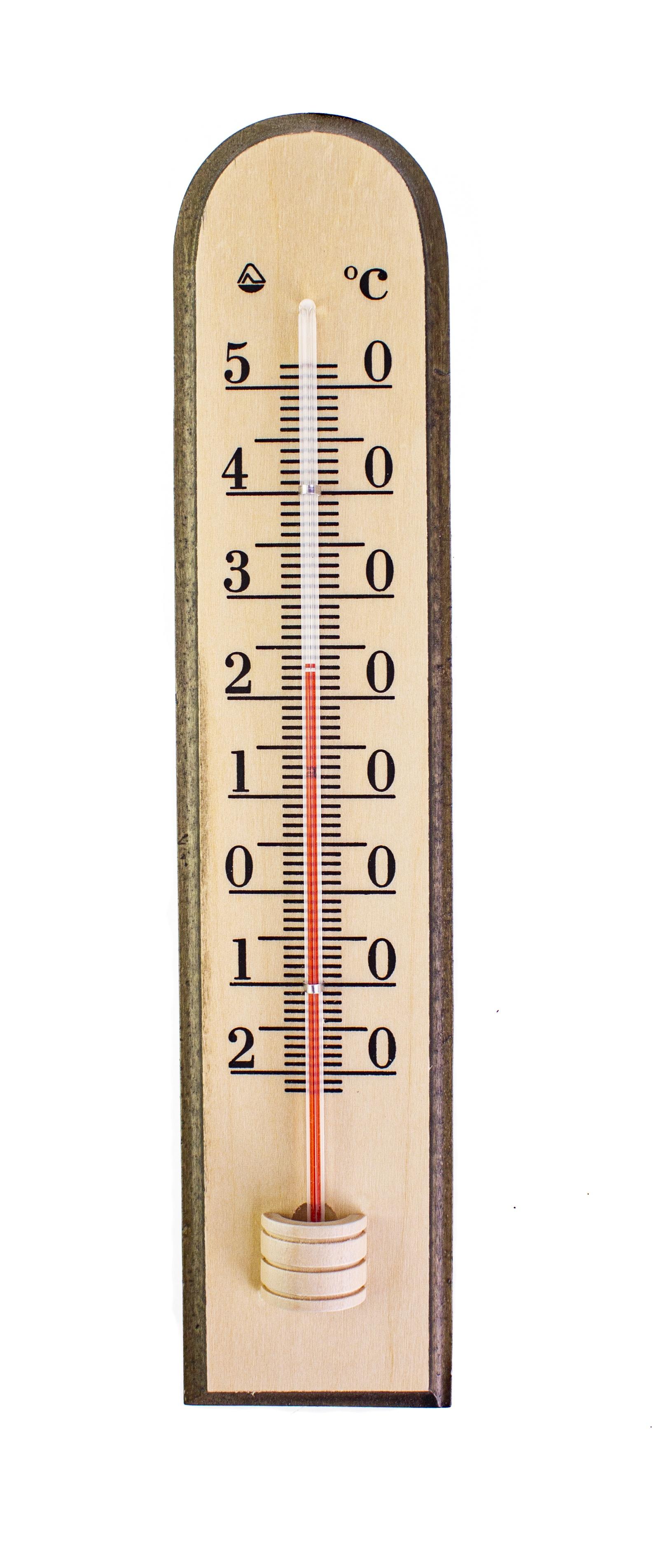 Термометр садовый PROFFI комнатный, настенный, деревянный, бежевый