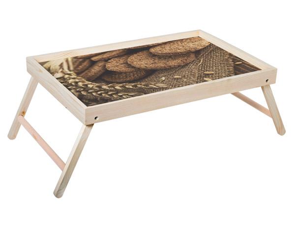 """Столик для завтрака """"Овсяное печенье"""" 52x33 см массив дерева, натуральный KD-034-129"""