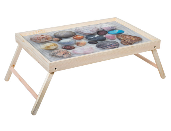 """Столик для завтрака """"Морские камешки"""" 52x33 см массив дерева, натуральный KD-034-130"""