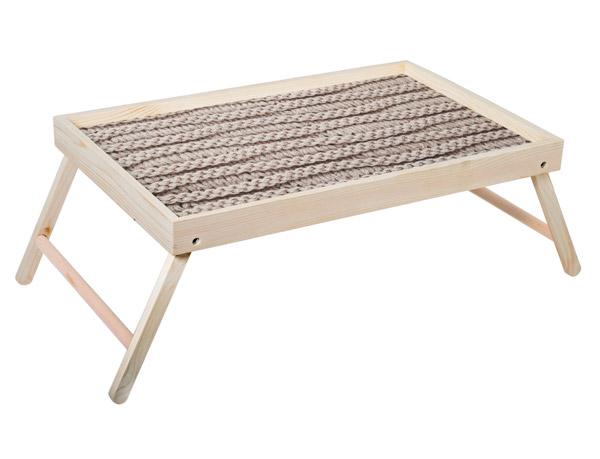 """Столик для завтрака """"Вязаный узор"""" 52x33 см массив дерева, натуральный KD-034-132"""