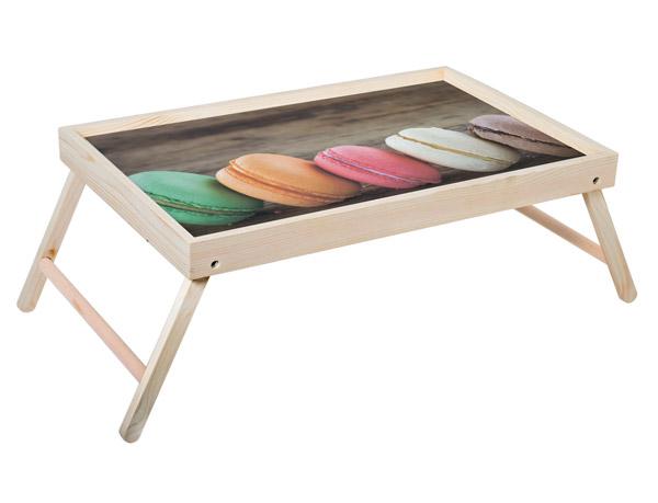 """Столик для завтрака """"Макаронсы"""" 52x33 см массив дерева, натуральный KD-034-103"""