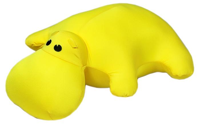 Штучки, к которым тянутся ручки Подушка-игрушка антистрессовая Бегемот цвет желтый