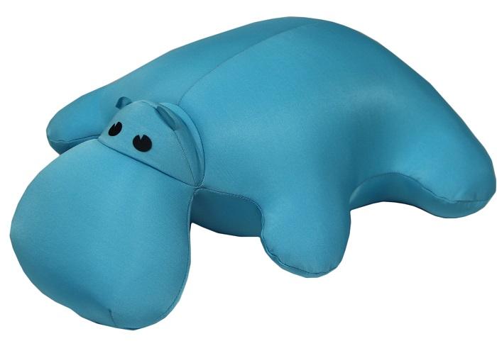 Штучки, к которым тянутся ручки Подушка-игрушка антистрессовая Бегемот цвет голубой