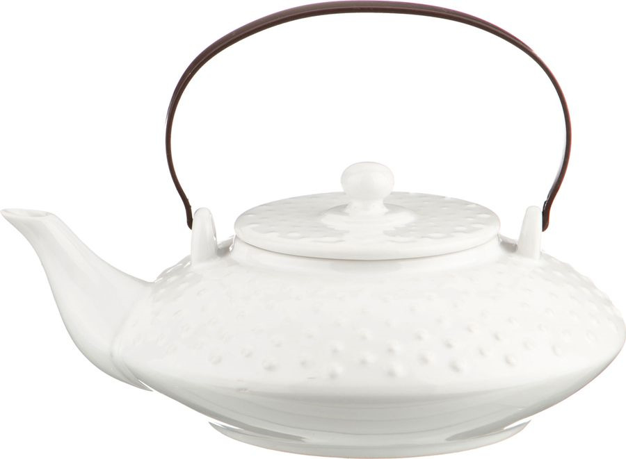 Чайник заварочный Agness, 470-052, белый, 600 мл чайник заварочный agness 470 015 оранжевый 600 мл