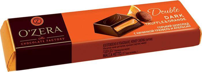 Шоколад горький Озерский сувенир Double Dark Truffle & Orange, 20 шт по 47 г горячий шоколад la festa горький 10 шт по 22 г
