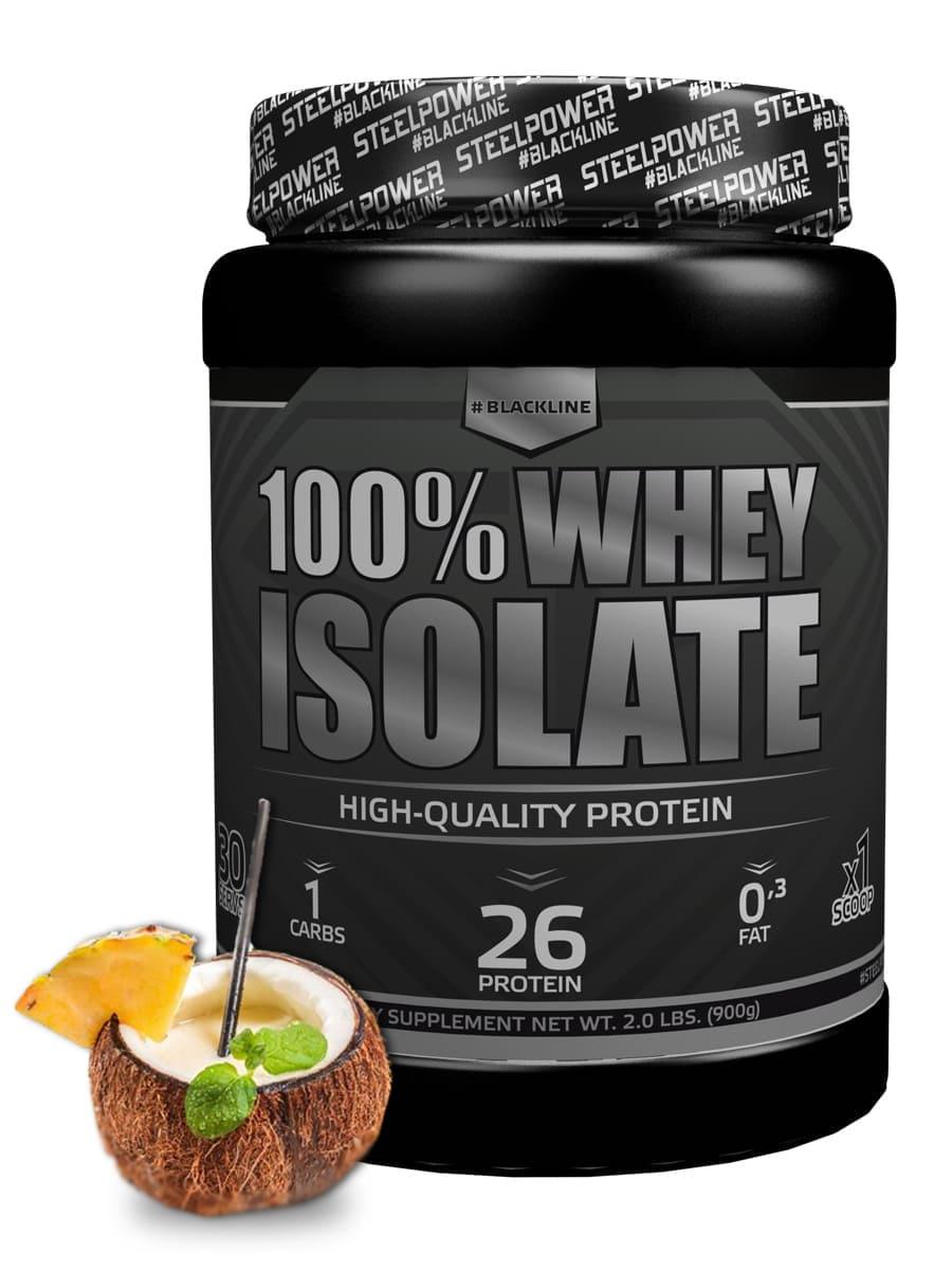 SteelPower Nutrition / Изолят сывороточного протеина 100% Whey Isolate, 900 г, Пина Колада