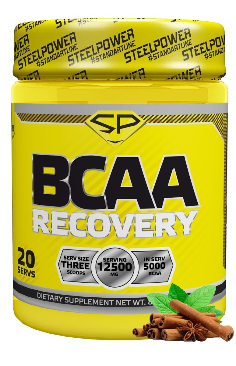 SteelPower Nutrition / Посттренировочный комплекс Bcaa Recovery, 250 г, Фьюри (Мята Корица)