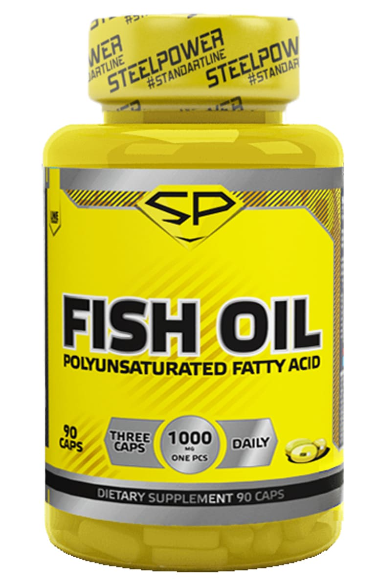 Omega 3 SteelPower Nutrition FISH OIL, 90 капсул