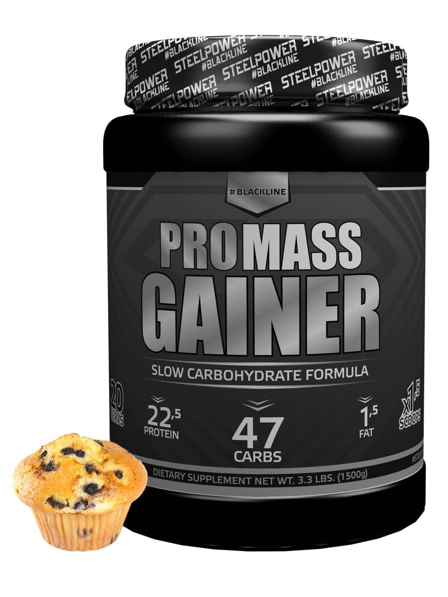 SteelPower PRO MASS GAINER 1500 г, вкус Черничный маффин гейнер optimum nutrition pro gainer клубника 4 45 кг