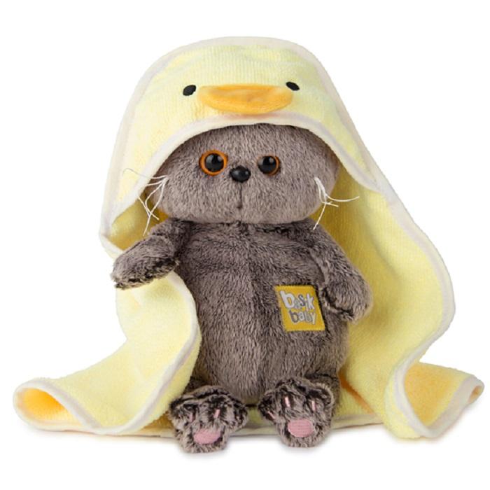 Мягкая игрушка Буди Баса Budibasa Басик BABY в полотенце с капюшоном, 20 см серый imsevimse полотенце с капюшоном cова