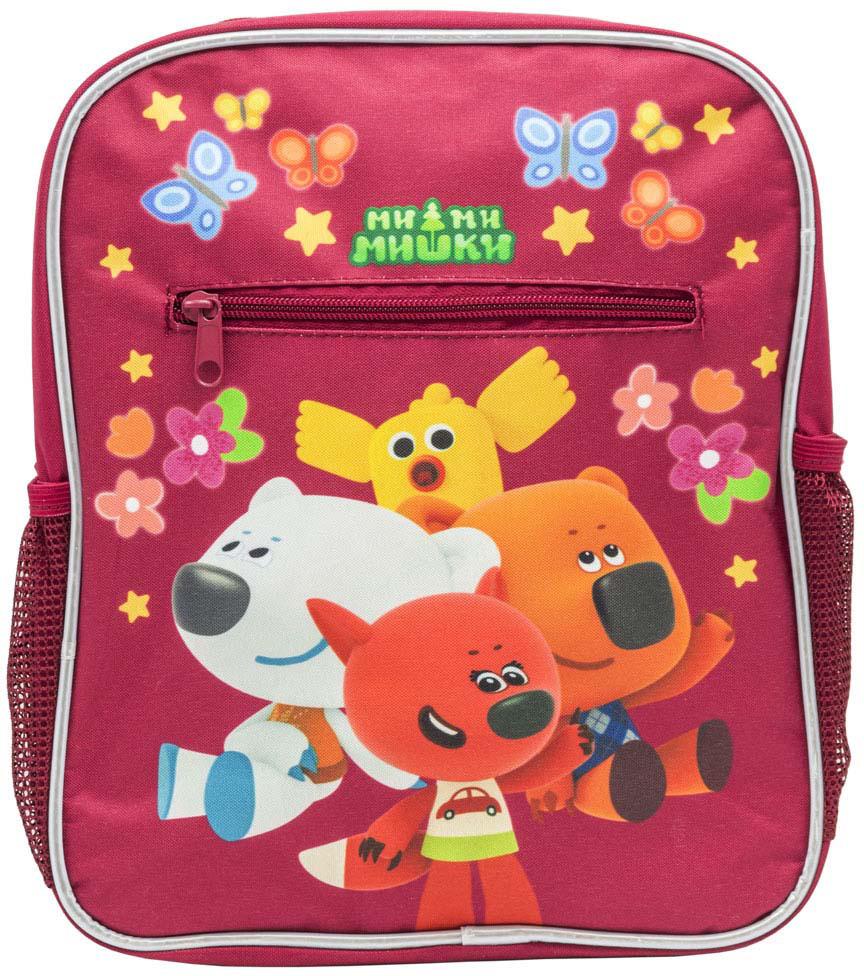Рюкзак дошкольный Action! Ми-Ми-мишки, 00-00044279, красный рюкзак ми ми мишки детский мягк спинка светоотраж полоски безопас разм 30х25х11см красный